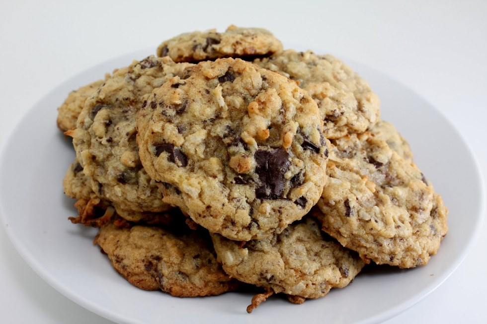coconut chocolate chip cookies 2